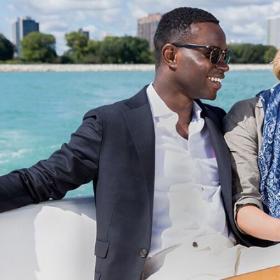 Male and Female Micro Influencer On Boat